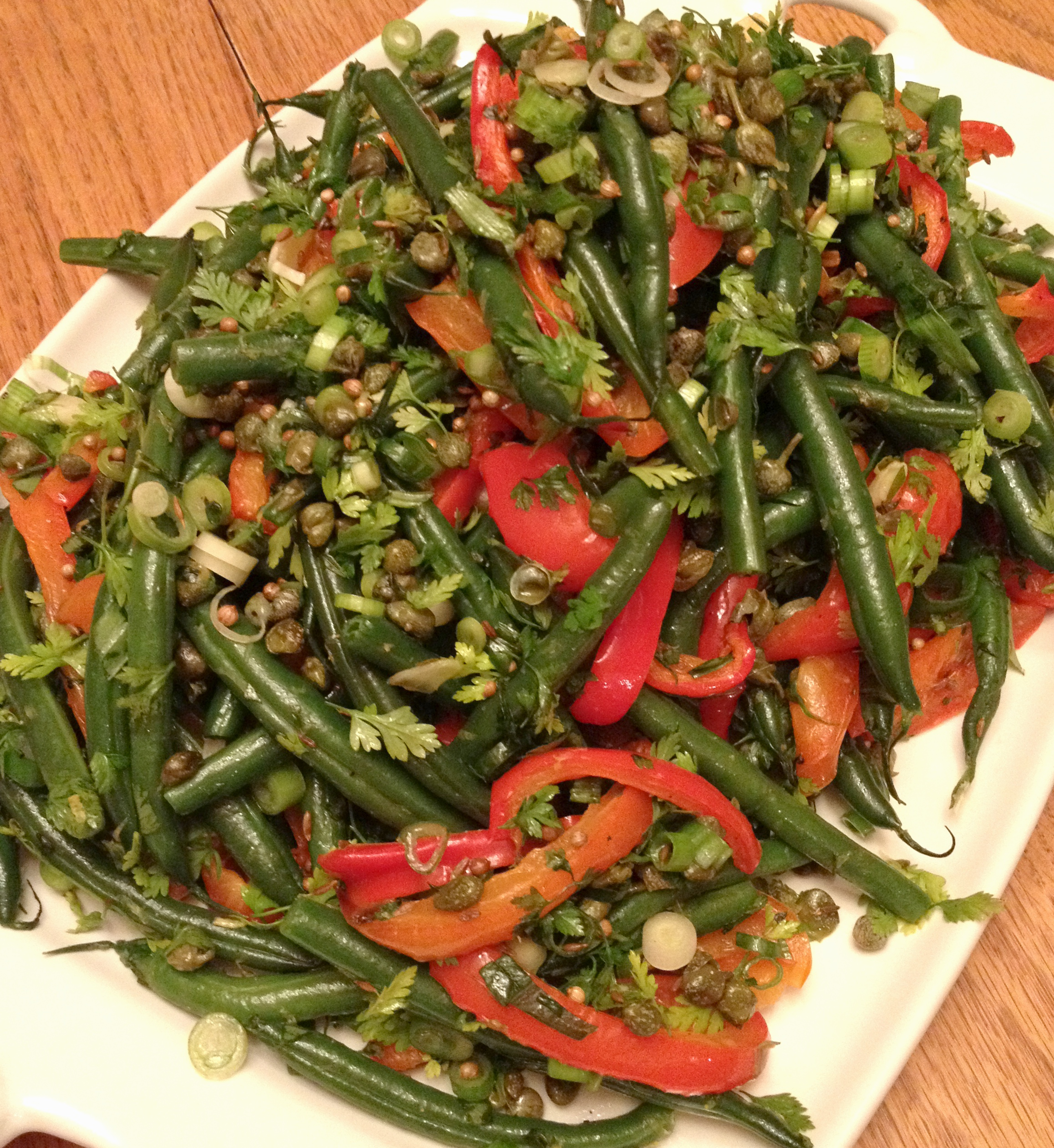 Mixed Bean Salad--A feast for the eyes, but not as beautiful on the palate.